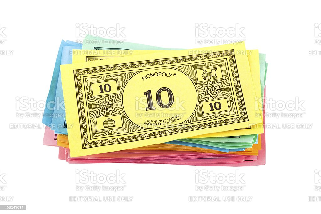 Monopoly Money royalty-free stock photo