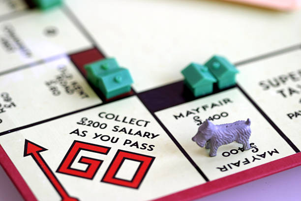 monopoly - old kent road stock photos and pictures