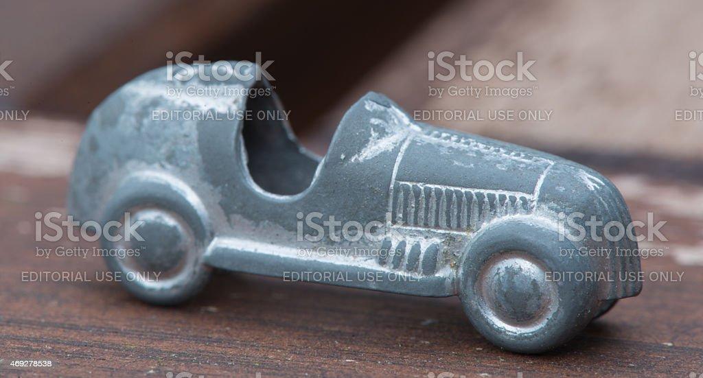 Monopoly Race Car stock photo