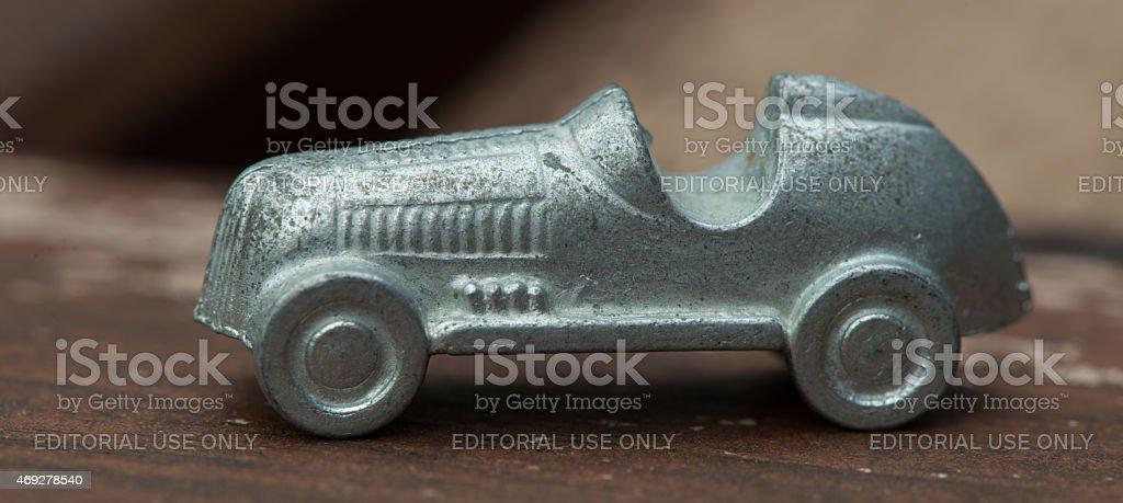 Monopoly Racecar stock photo
