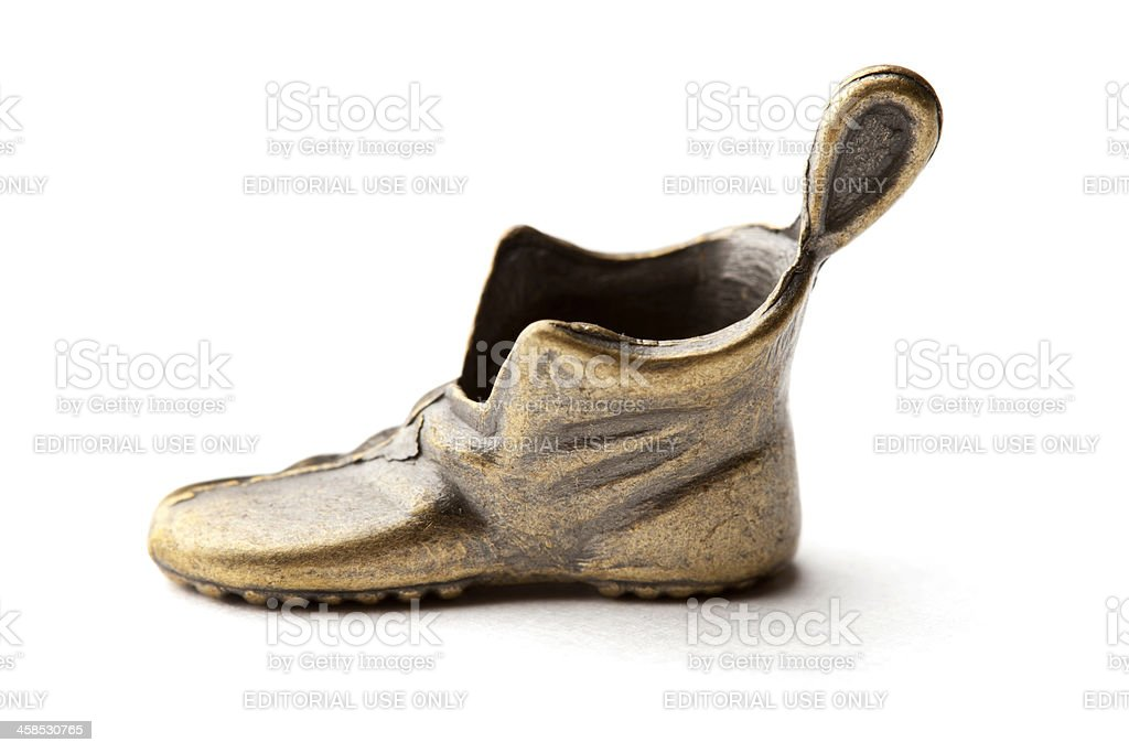 Monopoly Shoe Game Piece royalty-free stock photo