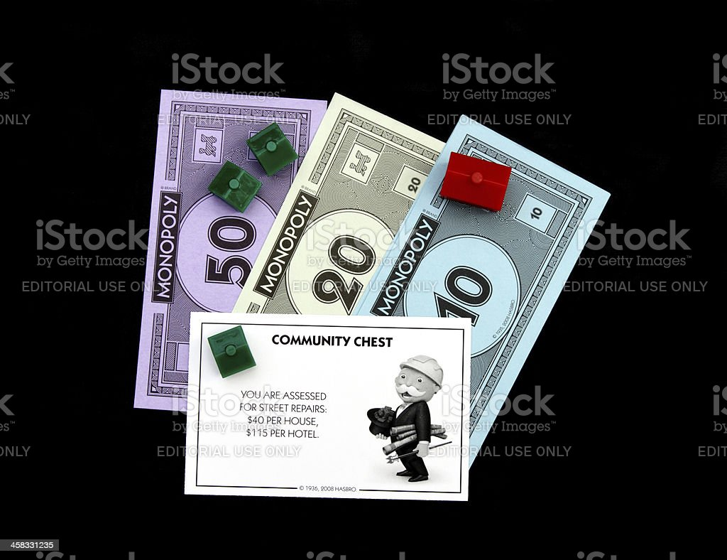Monopoly Street Repair card royalty-free stock photo