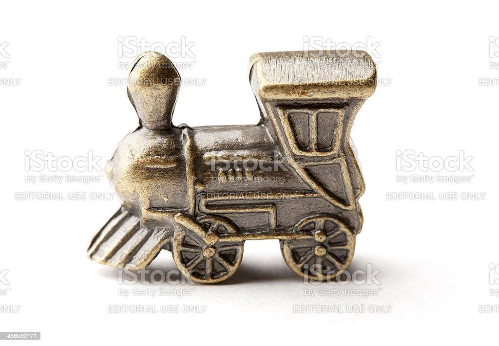 Monopoly Train Game Piece royalty-free stock photo