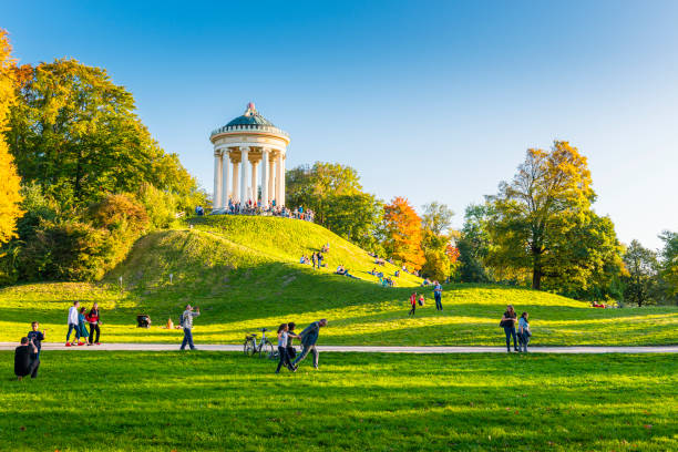 Monopteros temple in Munich stock photo