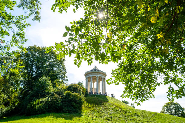 Monopteros temple in the English Garden, Munich, Germany