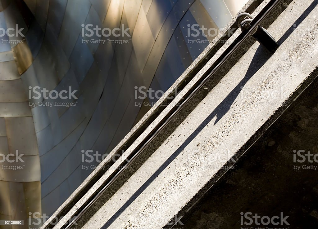 Monorail and Metal royalty-free stock photo