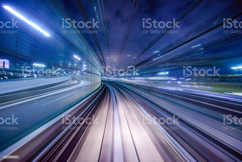 Monorail Blur stock photo