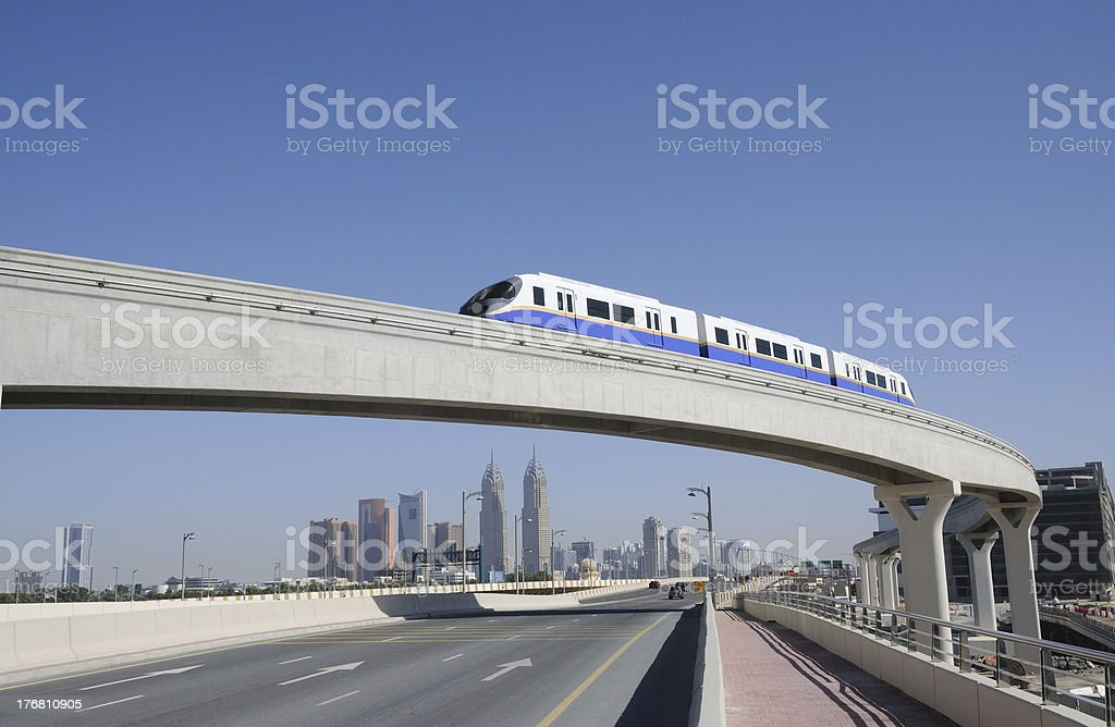 Monorail in Dubai stock photo
