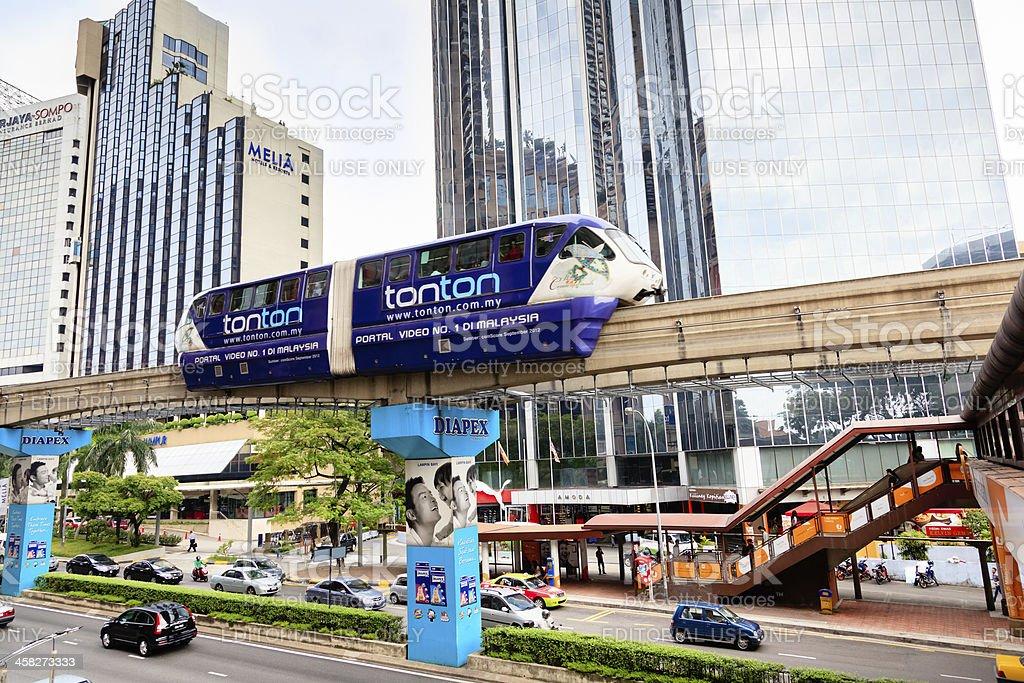Monorail in Kuala Lumpur royalty-free stock photo