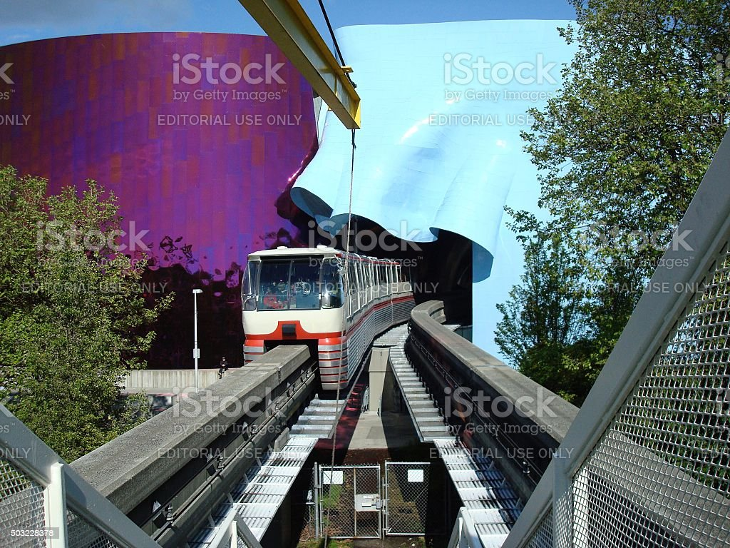 Monorail on track stock photo