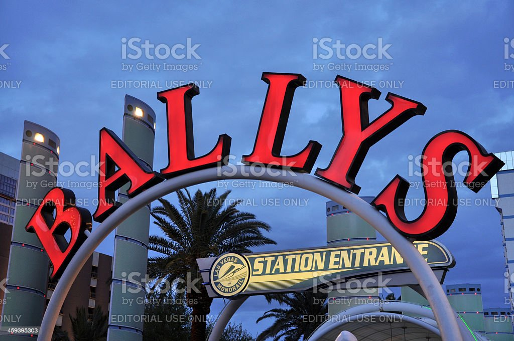 Monorail Station Entrance to Bally's Las Vegas stock photo