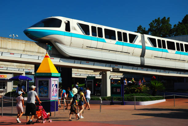 monorail, walt disney world - orlando florida photos stock photos and pictures