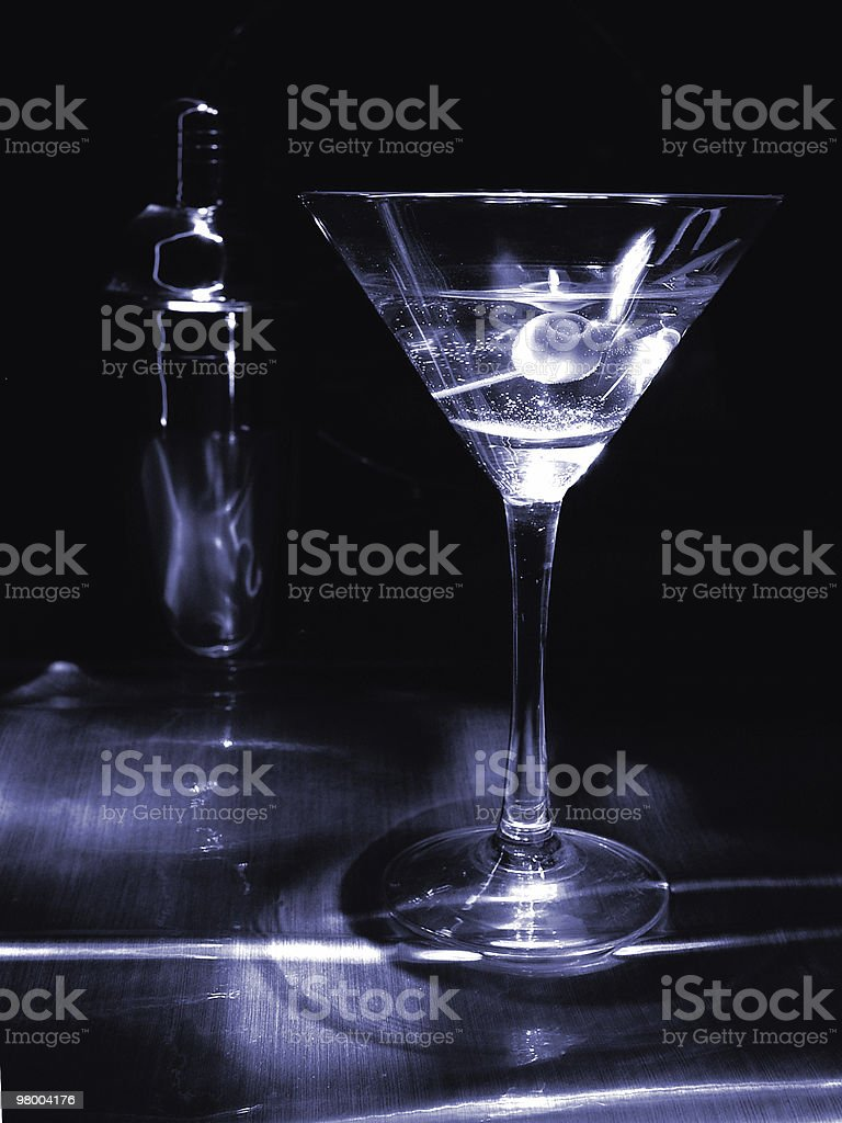Monotone Martini royalty free stockfoto