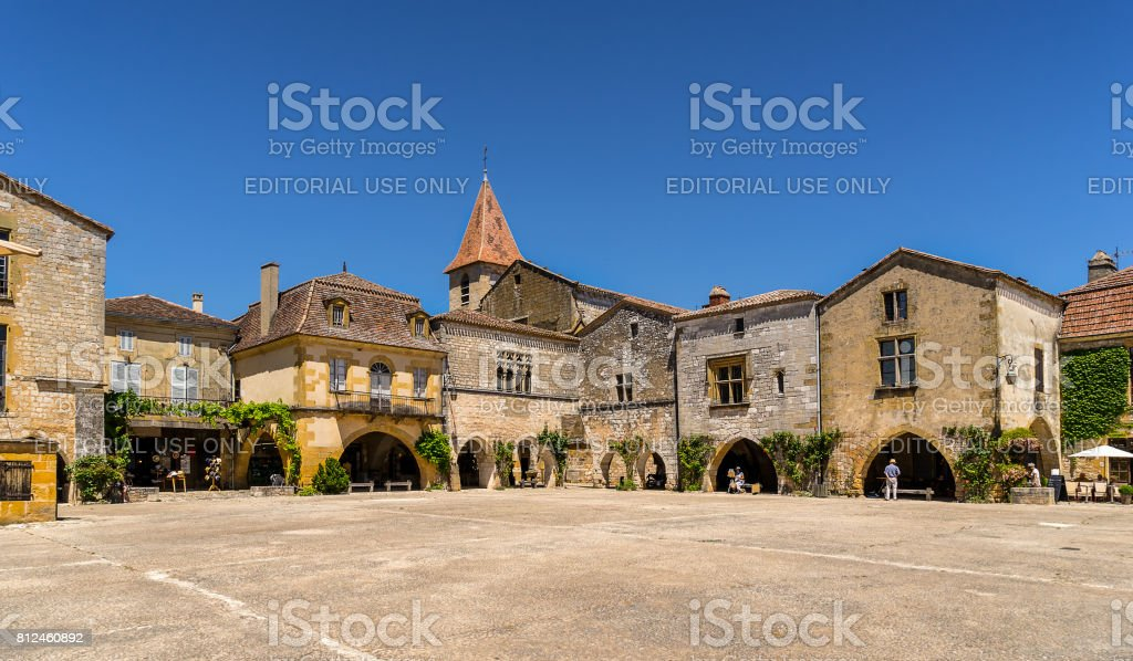 Monpazier stock photo