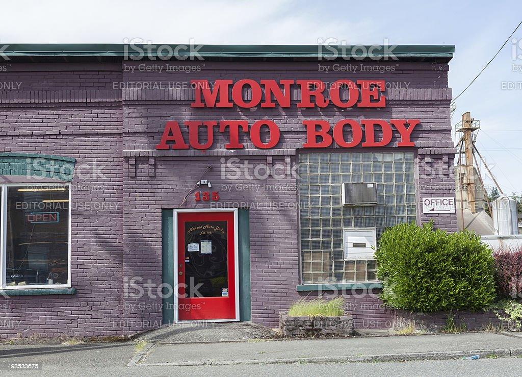 Monroe Auto Body stock photo