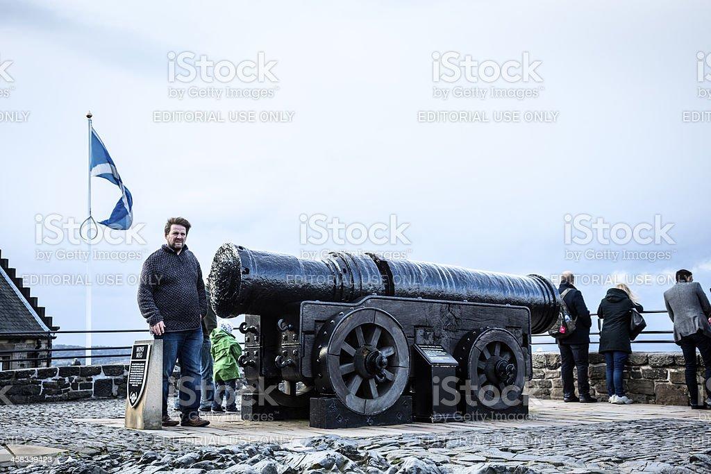 Mons Meg Cannon in Edinburgh Castle royalty-free stock photo