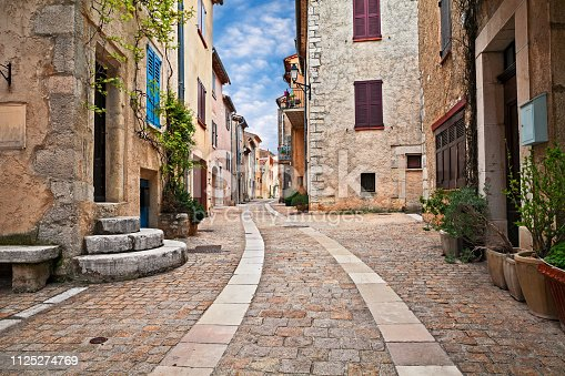 istock Mons, Var, Provence, France: cityscape of the ancient village 1125274769
