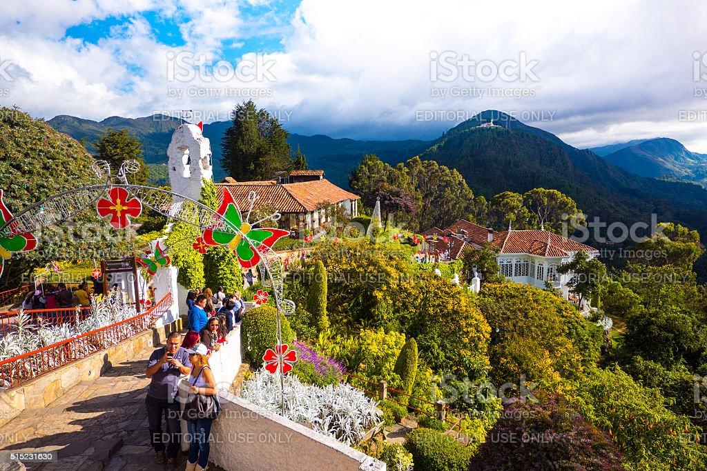 Monserrate Church in Bogota, Colombia stock photo