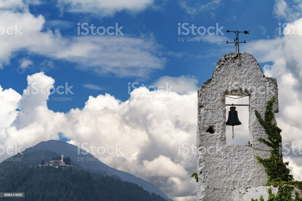 Monserrate Old Bell Tower stock photo