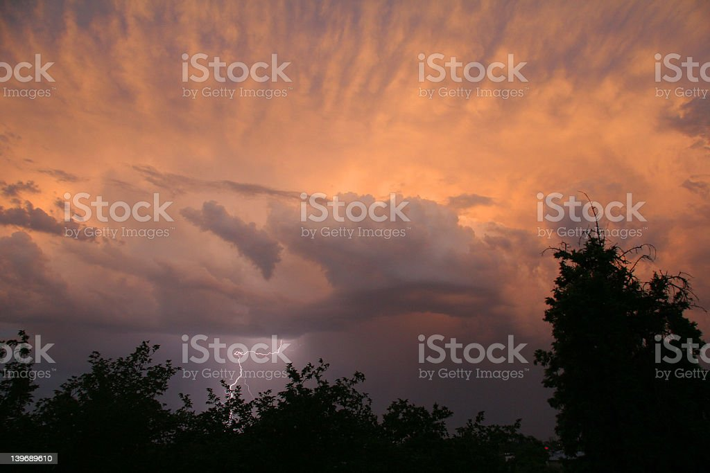 Monsoon, Lovely Clouds & Lightning stock photo