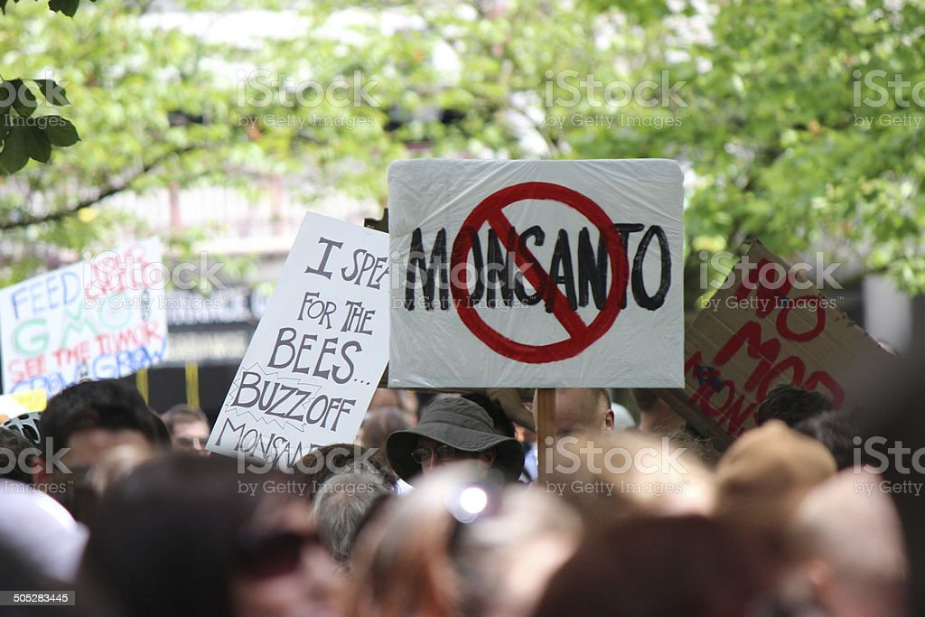 Monstanto Protest stock photo