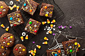 istock Monster brownies with candy and sprinkles 1036967420