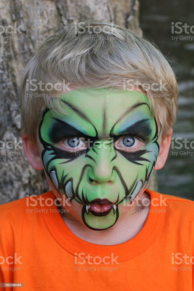 Monster Child with Lips Puckered royalty-free stock photo
