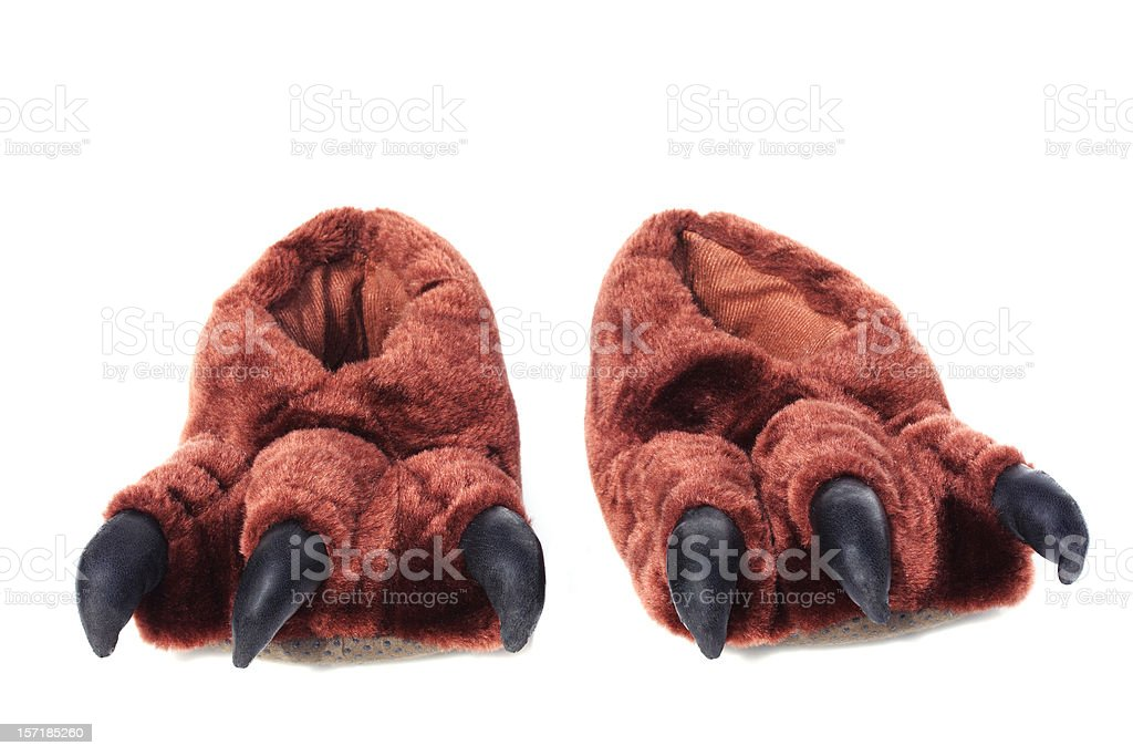 monster feet isolated on white stock photo