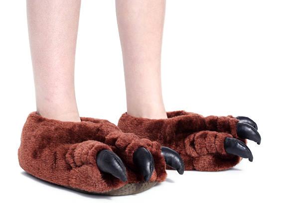monster feet with non-monster legs stock photo