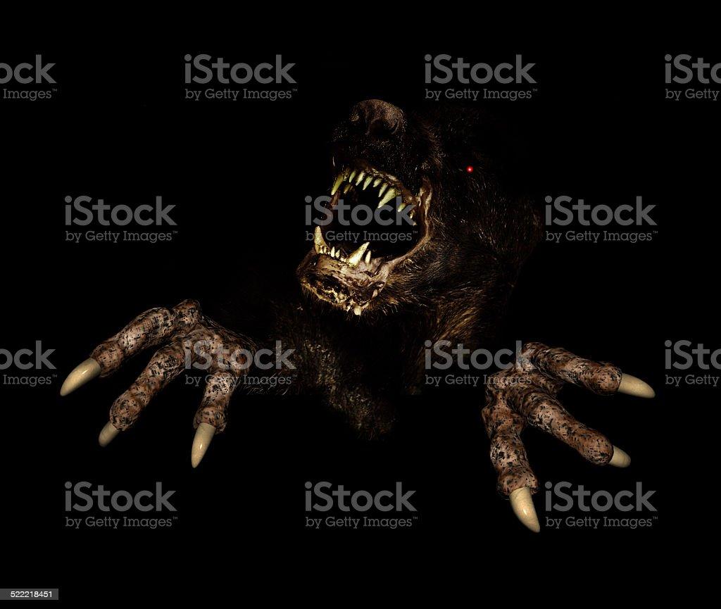 Monster no escuro - foto de acervo