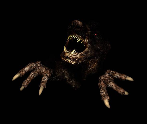 monster en la oscuridad - monstruo fotografías e imágenes de stock