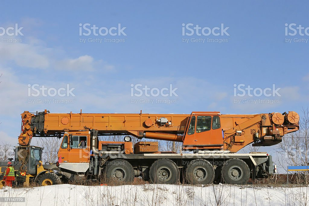 Monster Mobile Crane Truck stock photo