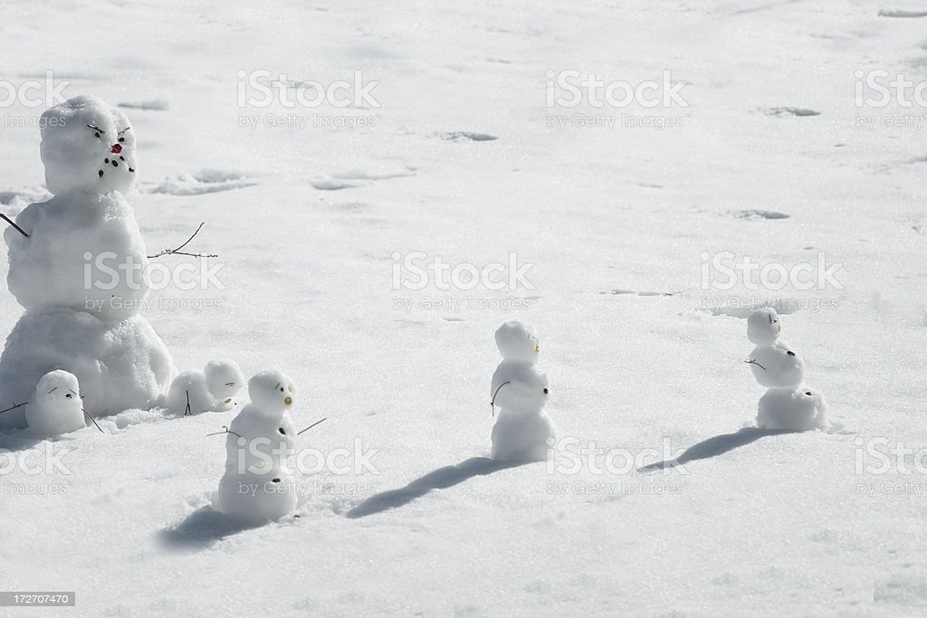 monster snowman royalty-free stock photo