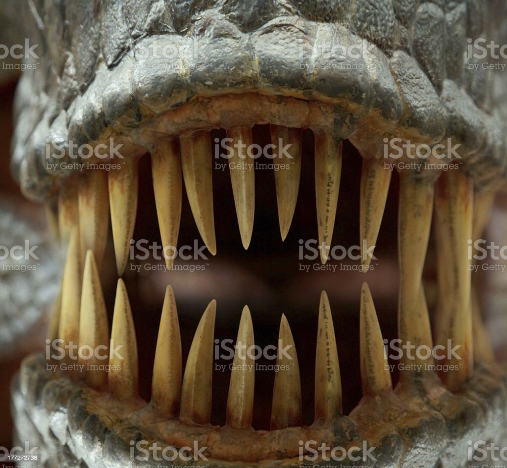 Monster teeth stock photo