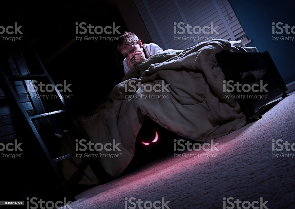 Monster Under My Bed stock photo