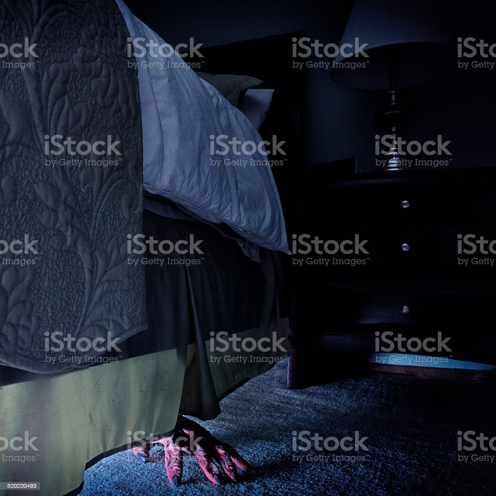 Monster Under the Bed stock photo