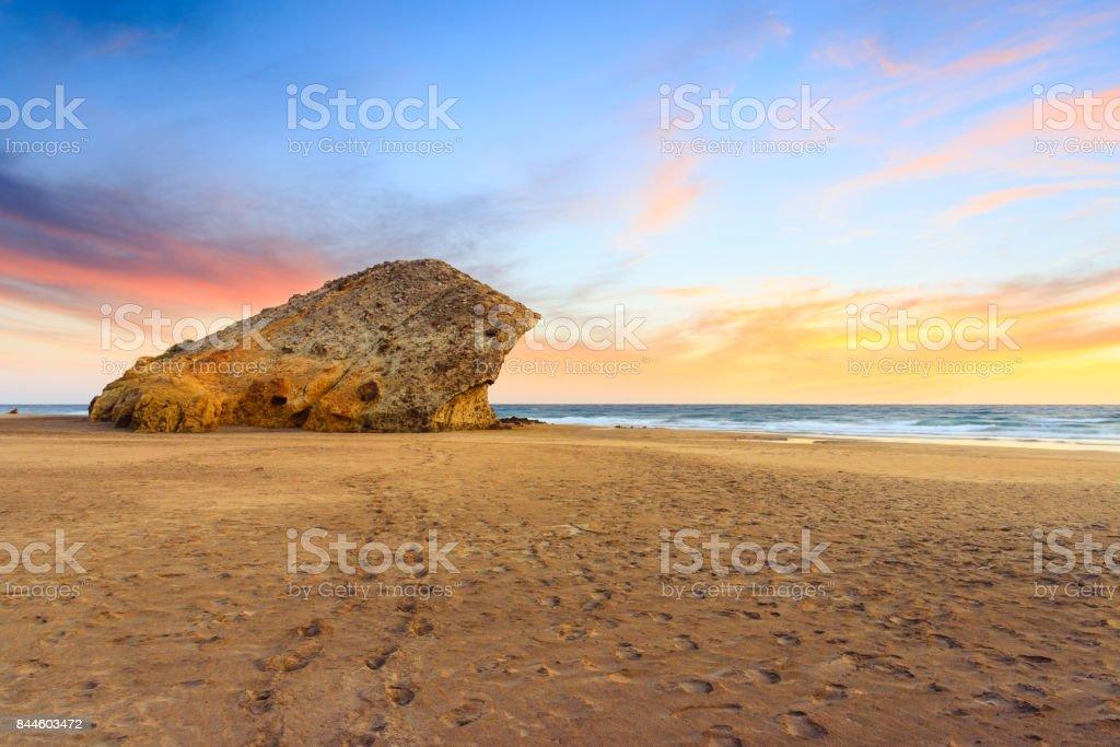Monsul beach near Almeria stock photo