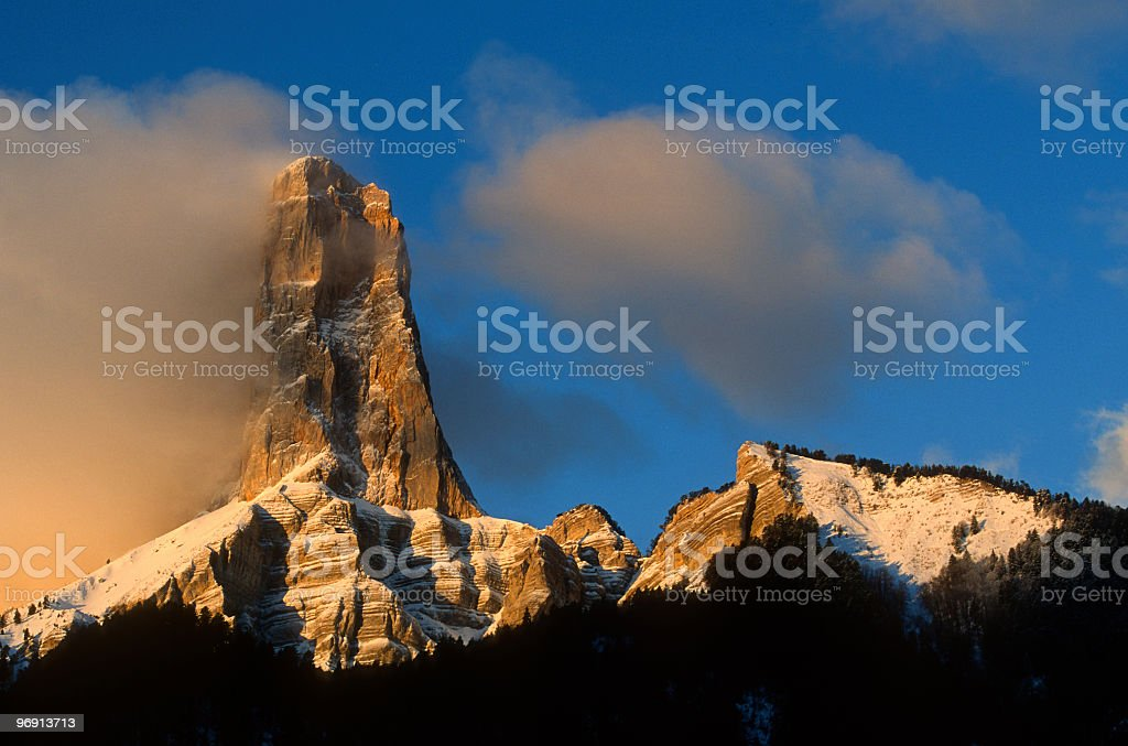 Mont Aiguille (2086 m) royalty-free stock photo