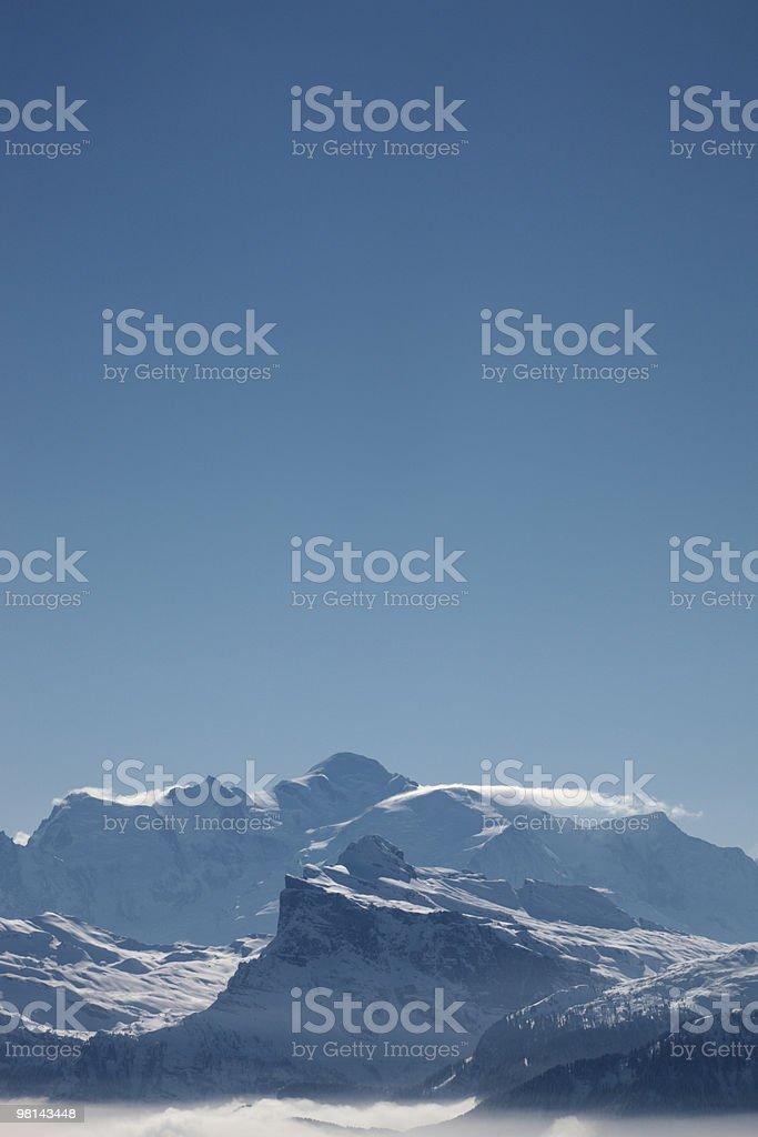 몽블랑 및 Blue Sky royalty-free 스톡 사진