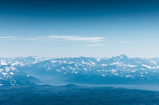 Mont Blanc and Lake Geneva