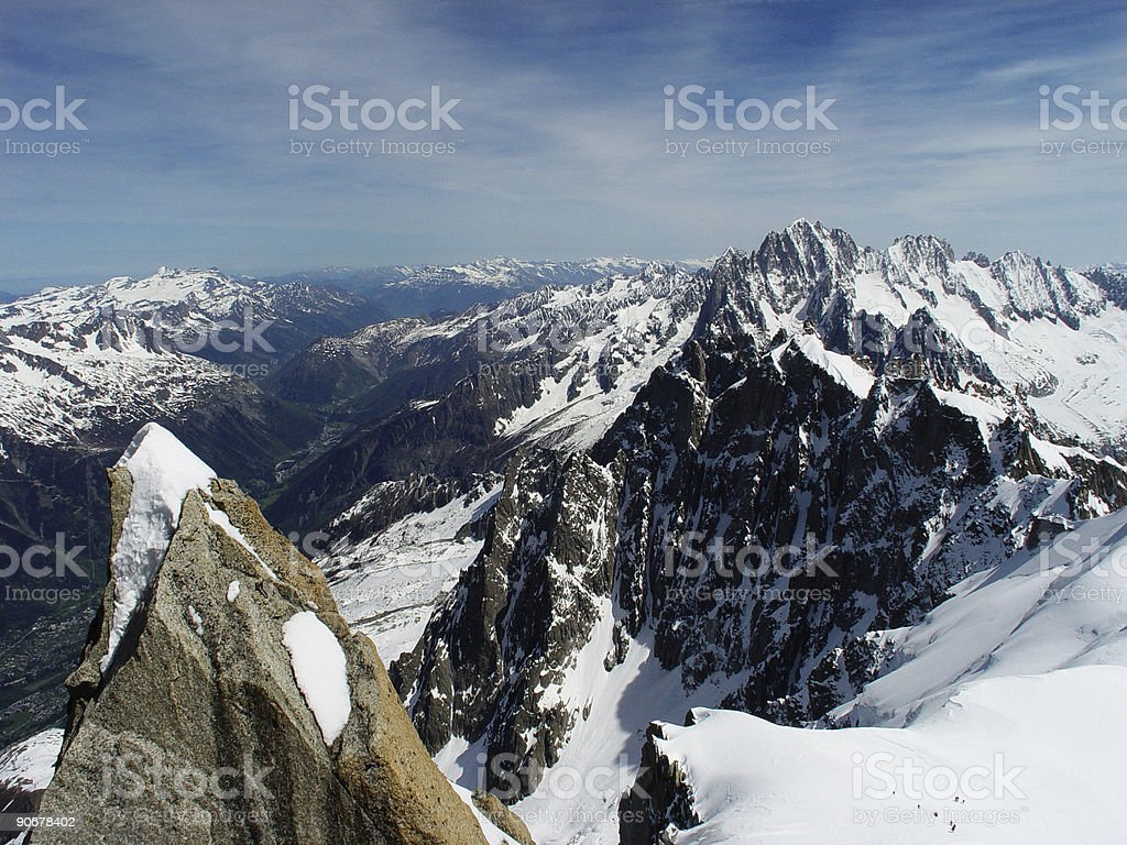 Mont Blanc - Chamonix France royalty-free stock photo