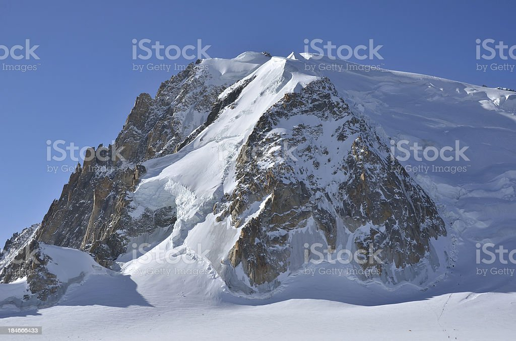 Mont Blanc de Tacul stock photo