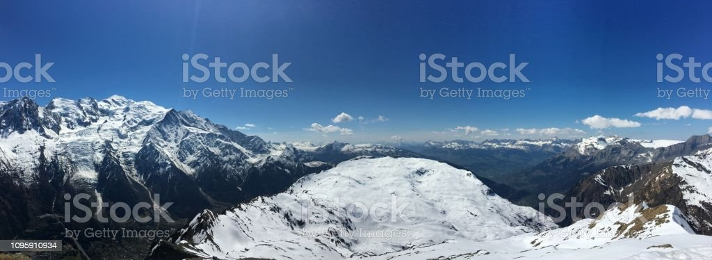 Mont Blanc in den Alpen – Foto