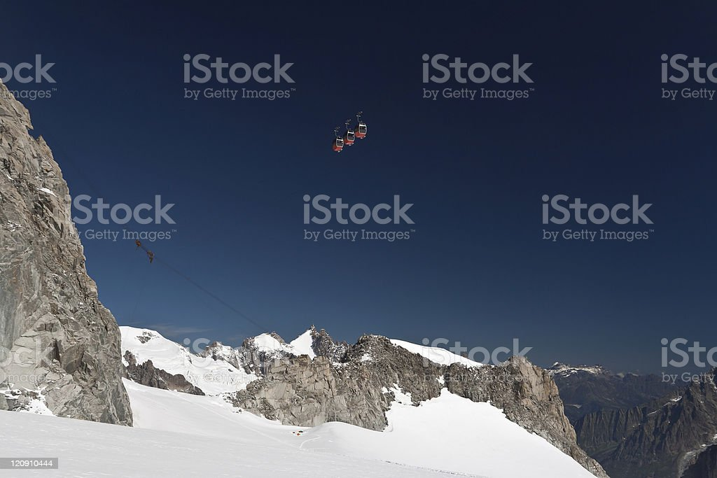 Mont Blanc massif and mer de glace royalty-free stock photo