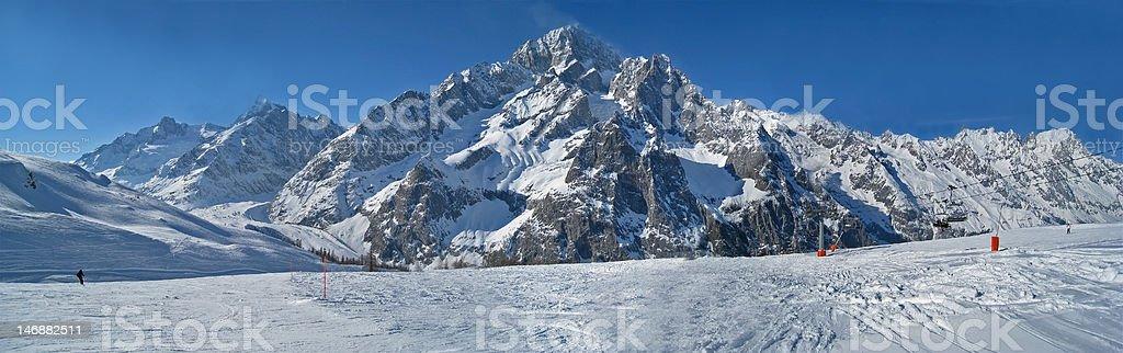 Mont Blanc Massif panorama royalty-free stock photo