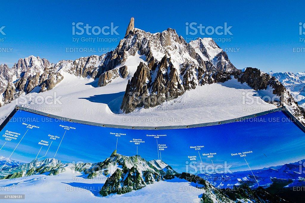 Mont Blanc Massif royalty-free stock photo
