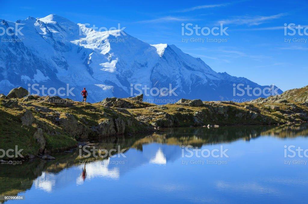 Mont Blanc run stock photo