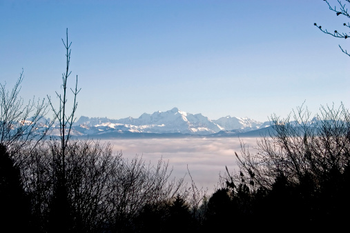 Mont Blanc view over Lake Geneva