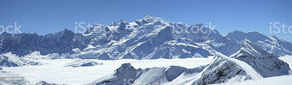 Mont blanc view royalty-free stock photo