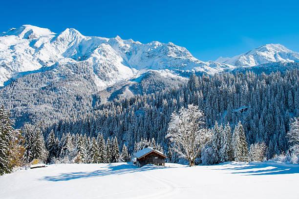 Mont blanc winter stock photo